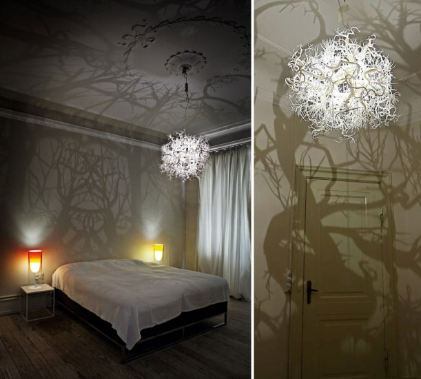 forest tree shadow chandelier by hilden & diaz (image: courtesy demilked)
