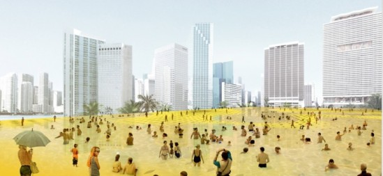 landmark miami competition - lemonade square (image: remed; courtesy gizmag) lemonade square placed second in the contest; pity everyone appears to have bladder problems...