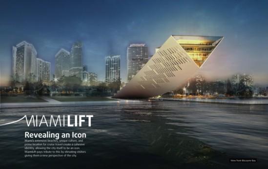 landmark miami competition - miami lift (image: studio dror; courtesy gizmag) first prize winner in the contest