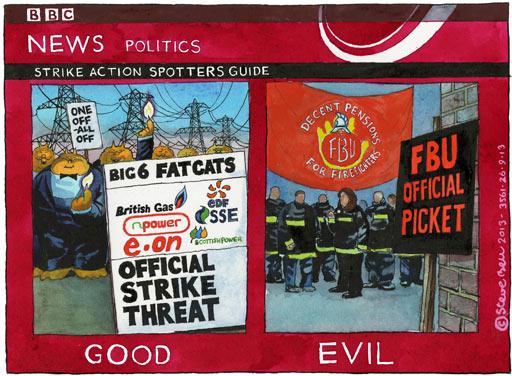 25/09/13 Steve Bell on strikes