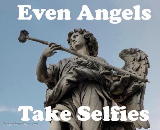 Even Angels Take Selfies